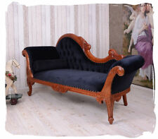 BOUDOIR SOFA CHAISE LONGUE EMPIRE RECAMIERE MAHOGANY WOOD ANTIQUE OTTOMAN