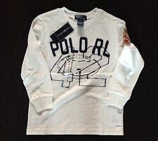 POLO RALPH LAUREN LONG SLEEVE T WHITE AVAILABLE 5,7 'T' RRP £37 NOW £18.50