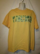 mens ymcmb t-shirt XL nwt medicinal plant yellow