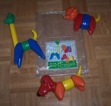 Vintage Tupperware Zoo it Yourself Toy COMPLETE with ORIGINAL BAG