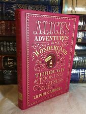ALICE'S ADVENTURES IN WONDERLAND by LEWIS CARROLL Leatherbound & BRAND NEW!