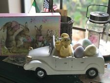 Hip Hop Easter Spring Chicks and Eggs in Vintage Automobile Figurine New!