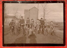 VELO  CYCLISME ENFANT GAMINS COURSE DE VELO PHOTO 9X6CM
