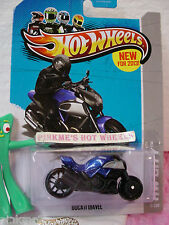 CASE Q 2013 Hot Wheels DUCATI DIAVEL motorcycle #9 US∞Dk Blue/Black☆New Casting
