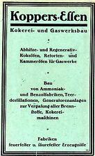 Koppers Essen Kokerei- und Gaswerksbau Historische Reklame 1925