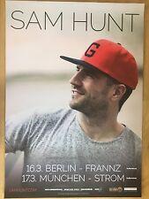 SAM HUNT 2016 TOUR - orig.Concert Poster -- Konzert Plakat  A1 NEU
