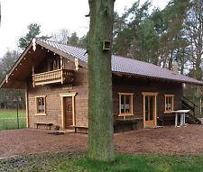 Ferienhaus Holzhaus Blockhaus Gartenhaus Wochenendhaus 7,50 m x 5 m 140mm Neu