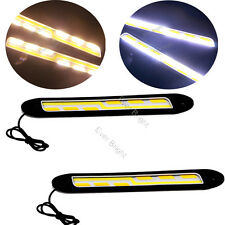 2x Silica COB 56SMD LED Car Lamp Bulb DRL Daytime Running Lights 12V White/Amber
