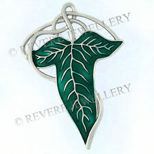 SILVER VEINS Elven Leaf Brooch Pin Badge Hobbit LOTR Lord of The Rings Cape