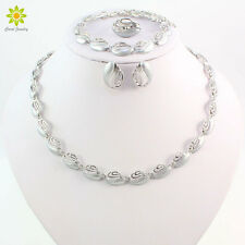 African Costume Silver-P Necklace Set Wedding Accessories Jewelry Sets For Women