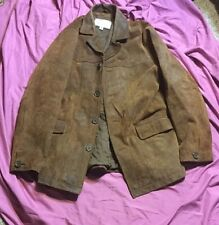 Vintage Wilsons M. Julian Distressed Suede Leather Men's Size M Brown Jacket