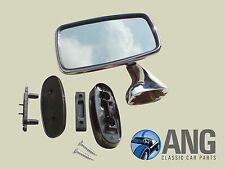 AUSTIN, MORRIS, WOLSELEY, MG, RILEY 1100, 1300 CHROME LEFT HAND TEX DOOR MIRROR