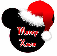 MINNIE MOUSE SANTA HAT XMAS PERSONALISED IRON ON TRANSFER IDEAL FOR XMAS GIFT