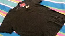 Seven souls Men T Shirt XL Cotton Polyester Short Sleeve Charcoal w/ Pocket NEW