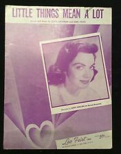 Vintage sheet music - Little Things Mean a Lot - 1954 Kitty Kallen cover