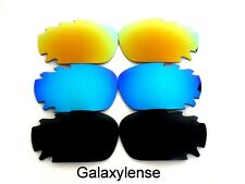 Galaxy Replacement Lenses For Oakley Jawbone Black&Blue&Gold Polarized 3 Pairs
