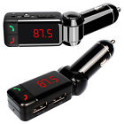Hot LCD Bluetooth Car Kit MP3 FM Transmitter USB Charger Handsfree For iPhone