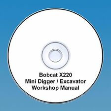 Bobcat x220 Mini Escavatrice Workshop Manuale