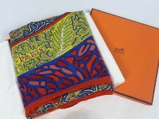Authentic HERMES La Legende Dupoisson Corail Cashmere Silk in box SHAWL GM 54""
