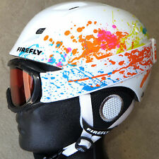 NEW $100 Firefly Girls Skiing Winter Sports white Helmet & Snow Goggles Combo