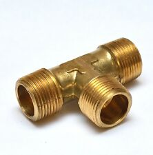 """Male Tee 3/4"""" NPT MPT BRASS FITTING Vacuum, Fuel, Air, Water, Oil, Gas FasParts"""