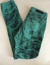 Rock & Republic Jeans Size 10M Skinny Berlin Green Tye Dye