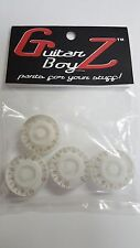 Guitar BoyZ™ Gibson Style White and Gold Numeral  Speed Knobs (4)