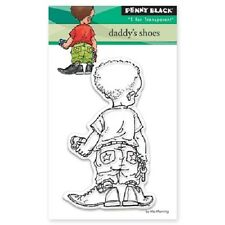 PENNY BLACK RUBBER STAMPS CLEAR DADDY'S SHOES NEW 2016 STAMP