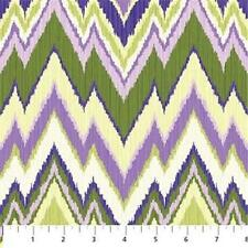 Northcott Passion Green Lavender Purple Stripe Butterfly Floral Quilt Fabric 8B