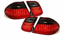 Red black finish led rear tail lights for Mercedes CLK W208 97-02