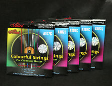 5 Sets ALICE A107C PROFESSIONAL Nylon Colorful Classical Guitar Strings