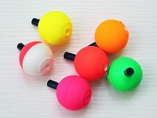 """LOT OF 10 COMAL TACKLE 1"""" Round Peg Floats Fishing Rigging Tackle Mix Colors"""