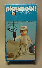 Vintage Playmobil System 1974 Sanitäter Figur mit Box und Zubehör