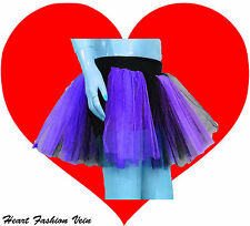 Purple Black 2 tone tutu skirt Teen Adult Dark Queen bat Dance Party Halloween