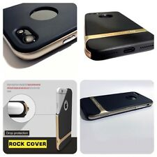 Rock Original Cover de Apple iPhone 7 estuche híbrido Flex & oro sólido rígido TPU Tech