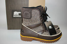 NIB SOREL Size 6 Women's Cordovan Tweed Waterproof TIVOLI II Short Winter Boot