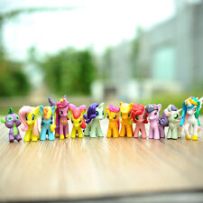 MINI Dolls Lot 12Pcs My Little Pony Horse Toppers Action Figures Kids Girl Toy