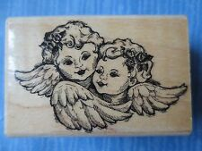 WINGED CHERUBS ANGELS wood mtd rubber stamp -fun stamps stampendous