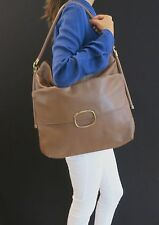 AUTHENTIC ROGER VIVIER LARGE MISS VIV BROWN LEATHER SATCHEL BAG