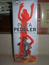 PIZZA PEDDLER Rolling Pizza Pie Slices Cut Cutter Knive Fred & Friends