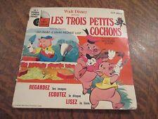 45 tours livre disque walt disney presente les trois petits cochons