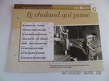 CARTE FICHE PLAISIR DE CHANTER LYS GAUTY LE CHALAND QUI PASSE