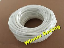 """White 4mm 0.16"""" ID silicone oil/fuel/air vacuum hose/line/pipe/tube by foot/feet"""