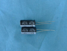 100PCS Nichicon 35V 470UF Electrolytic Capacitor 10X20mm