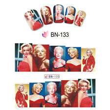 Nail Art Manicure Water Transfer Decal Stickers Marilyn Monroe BN133