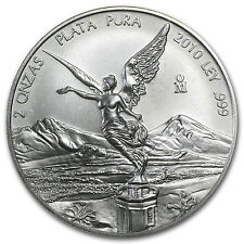2010 2 oz Silver Mexican Libertad Coin - Brilliant Uncirculated - SKU #57111