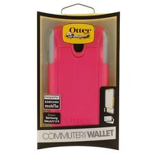 OtterBox Commuter Wallet Case for Samsung Galaxy S4 Retail Packaging - Pink/Gray