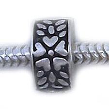 Flower Hearts Clip Lock Stopper Bead For Snake Chain Bracelet