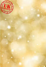 CHRISTMAS GOLD LIGHT BOKEH BACKDROP BACKGROUND VINYL PHOTO PROP 5X7FT 150x220CM