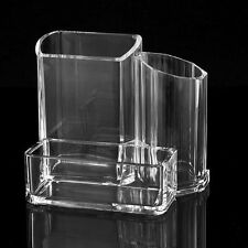 Clear Acrylic Makeup Cosmetic Tool Organizer Brush Display Rack Holder Stander
